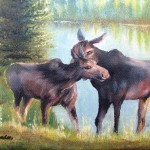 Moose Secrets Painting Patti Gordon Fine Art Prints