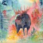 Moose The Wilderness Painting Fine Art
