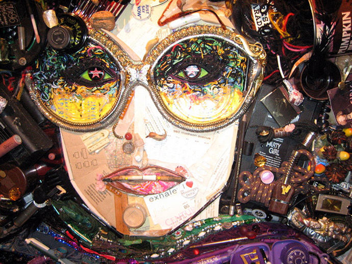 Mosaic Painting Lady Gaga And Kermit The Frog Jason Mecier Art