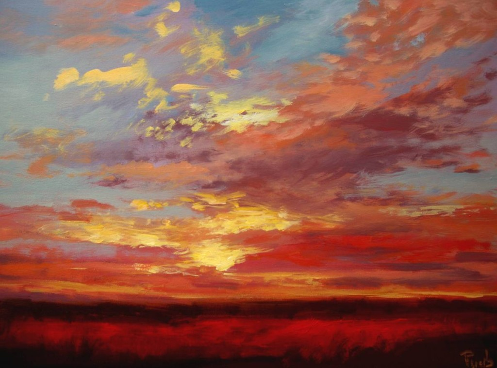 Most Recent Sunset Sky From Wendy Puerto Paintings