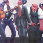 Motley Archibald The Jazz Singers Canvas Painting For Sale