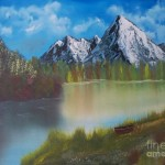 Mountain Lake Bob Ross Paintings