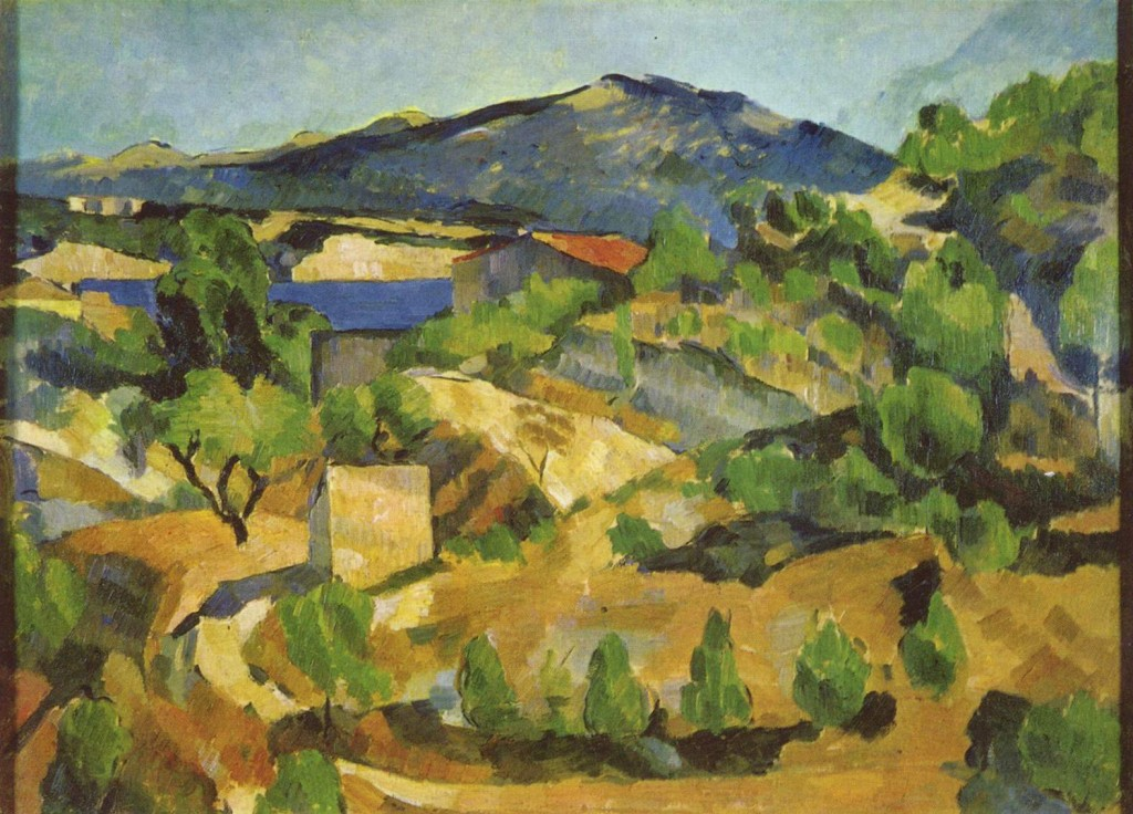 Mountains Provence Estaque Paul Cezanne Wikipaintings