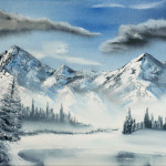 Mountains Scenes Gallery Art For Sale Wintery Mountain Wonderland