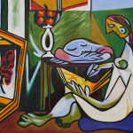 Muse Pablo Picasso Oil Color Painting Canvas