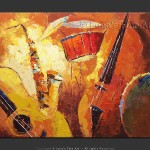 Music Art Instruments Painting Sweet Melodies Jazz