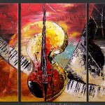 Music Art Instruments Painting The Ocean