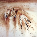 Native American Mix Paintings Art Design