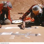 Navajo Indian Man Painting People Person Sand