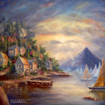 Nayon Landscape Painting Filipino Artist Vicente Collado