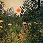 Negro Attacked Jaguar Henri Rousseau Wikipaintings