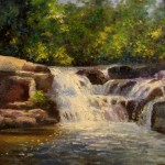 Nel Everyday Painting Cove Waterfall Sold