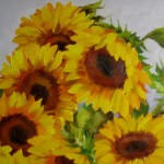 Nel Everyday Painting Sunflower Bunch Sold