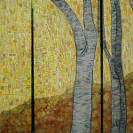 New Birch Tree Painting Itchy Eyeballs