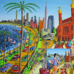 New York Naive Painting Art Gallery The City Usa United State