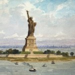 New York Painting Bartholdi Frederic Auguste Oil
