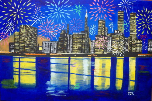 New York Your Spirit Will Never Die Painting Celebrate