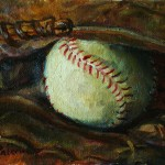 Next Painting Happy Father Day Baseball Mitt