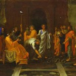 Nicolas Poussin Moses Turning Aaron Staff Into Serpent