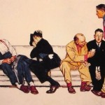Norman Rockwell Maternity Waiting Room Painting Best Paintings For
