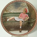 Norman Rockwell Painting Plate Signed Thomas