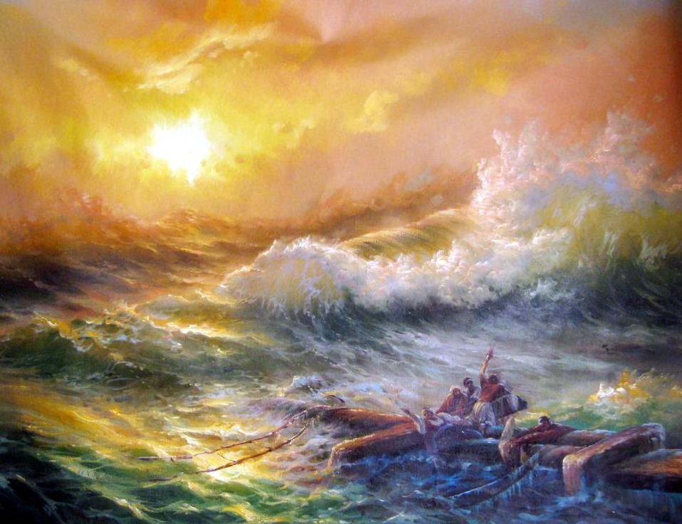 Ocean Wave Oil Painting China Handmade