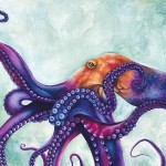 Octopus Painting Ashley Brown Rainbow Fine Art Prints
