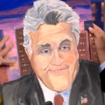 Off Some New Paintings Jay Leno Here George Bush Showing