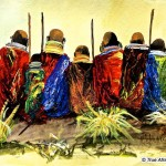 Oil African Art Paintings Maasai Artist John Ndambo