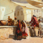 Oil Painting American Artist Edwin Lord Weeks Old Indian Arts