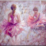 Oil Painting Ballet Paintings Dancers