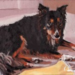 Oil Painting Collie Dog