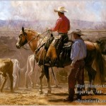 Oil Painting Cowboy Western Art For Sale Artists