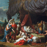 Oil Painting Death Darius Spouse French Louvre Museum