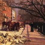 Oil Painting For Sale Beacon Street Boston Genuine Hand