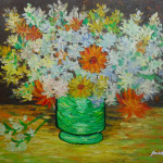 Oil Painting Gallery Signed Van Gogh Daisy Flowers