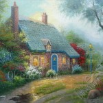 Oil Painting Garden Decorative Living Room Paintings
