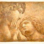 Oil Painting Michael Angelo Drawing Adam Eve Lot