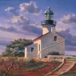 Oil Painting Old Point Loma Lighthouse Richard Moore