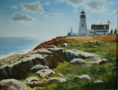 Oil Painting Point Loma Lighthouse