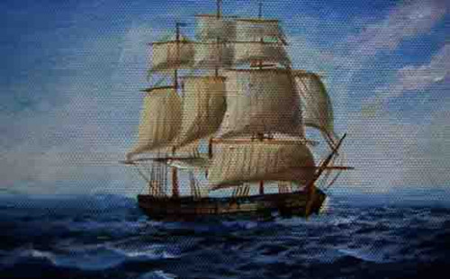 Oil Painting Sailboat China