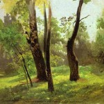 Oil Painting Trees Genuine Hand Painted Other