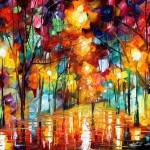 Oil Painting Using Only Paltete Knife Leonid Afremov