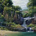 Oil Painting Water Fall