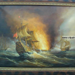 Oil Paintings Canvas China Painting Warship
