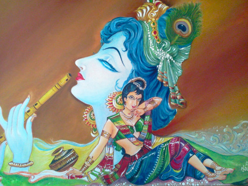 Oil Paintings Gallery Art For Sale Radha Krishna