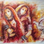 Oil Paintings Gallery Art For Sale Rajashthani Woman