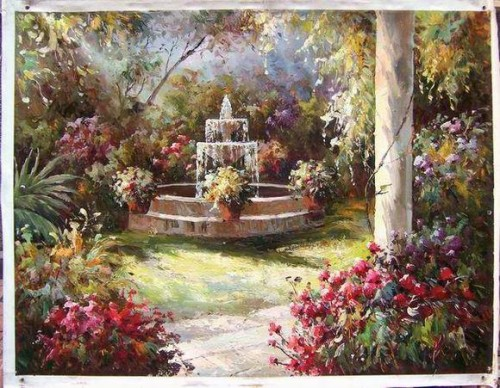 Oil Paintings Garden Impression China Painting