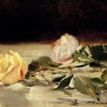 Oil Paintings Sale Edouard Manet Two Roses