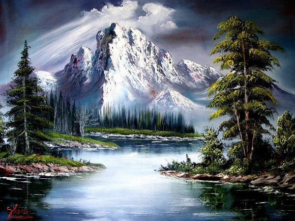 Oil Paintings Sun After Rain Artist Bob Ross